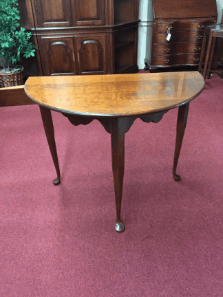 Cherry Demi Lune Hall Table