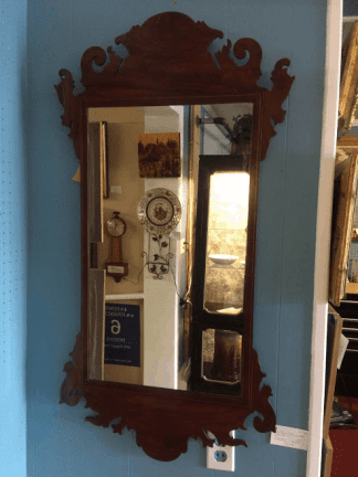 Mahogany Inlaid Chippendale Mirror