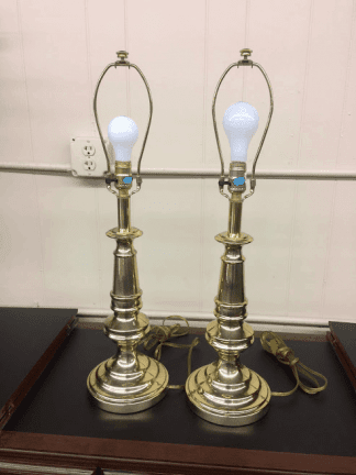Brass Table Lamps - A Pair