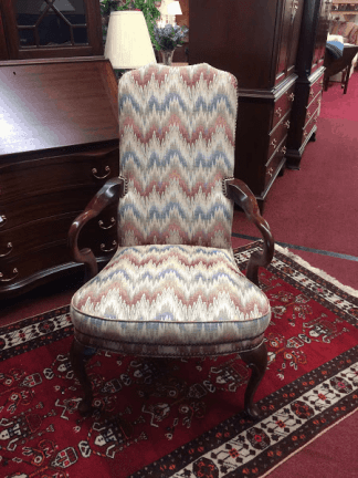 Vintage Flame Stitch Arm Chair
