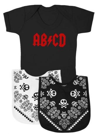 Funny Baby Gift Set alternative to baby gift basket AB/CD AC/DC