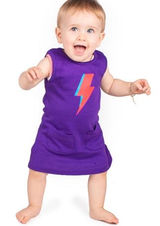 David Bowie Baby Dress Ziggy Stardust Toddler Girl Dresses