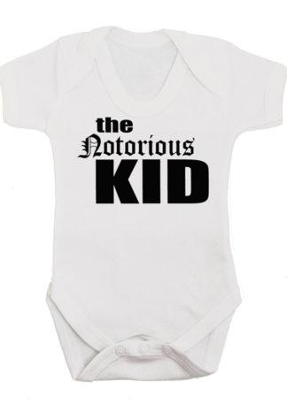 The Notorious KID baby grow vest monochrome