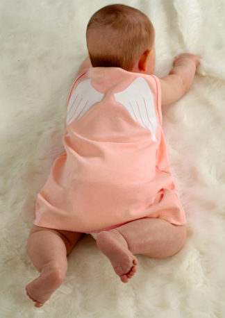 Adorable Baby Dress Peach Angel Wings Costume