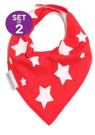 Red Colourful Dribble Bibs - Baby Bib Gift Set