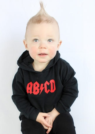 AB/CD Rock n Roll Kids Hoodie Rock Music Kids Clothes ACDC