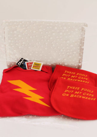 3 piece Superhero Baby Gift Set, Funky Baby Gift Box
