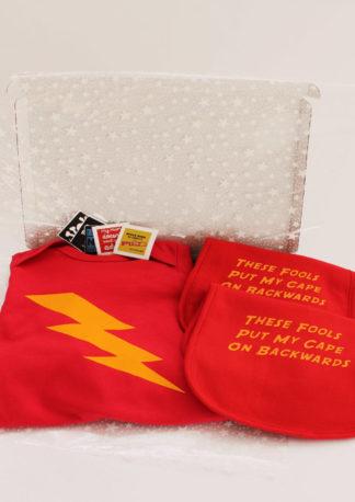 3 piece Superhero Baby Gift Set, Funky Baby Gift Box