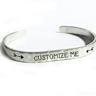 Customizable Hand Stamped Bracelet