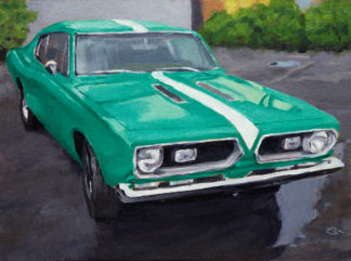 Plymouth Barracuda painting by Raphael Schnepf