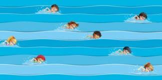 la prima Gara di nuoto di bambini