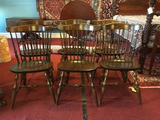nichols and stone fiddle back chairs