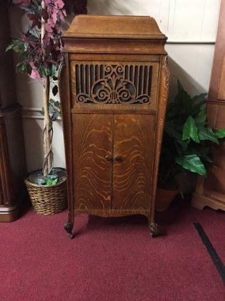 Antique Oak Victrola Cabinet