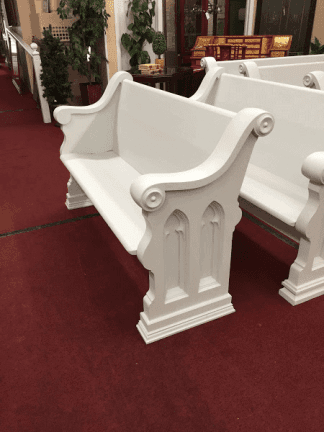 Antique Church Pews - Painted