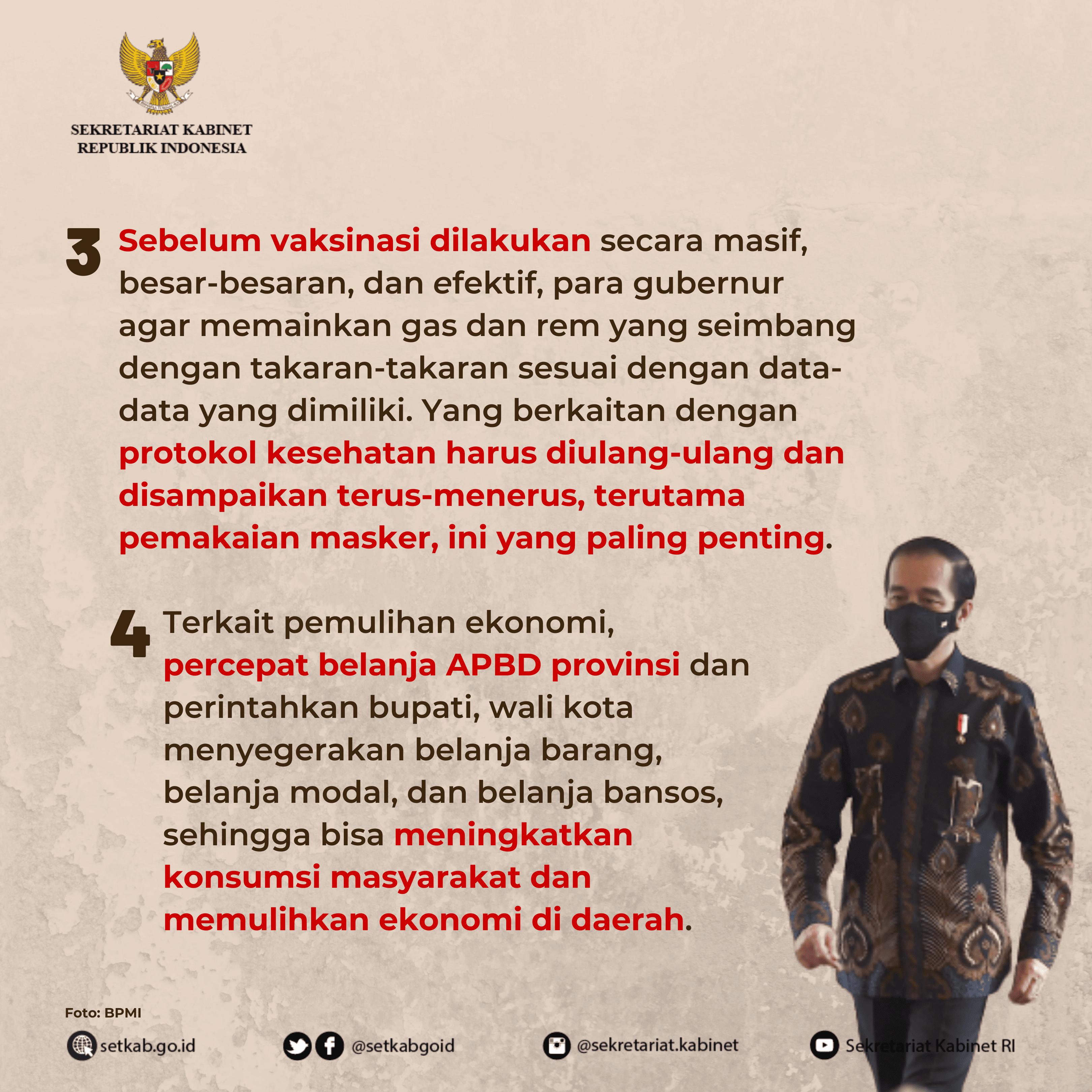 "Arahan Presiden Joko Widodo pada #RapatTerbatas ""Pengarahan Presiden Kepada Para Gubernur Menghadapi Pandemik COVID-19 dan PEN"""