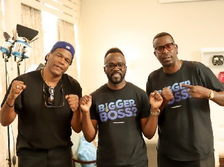 Director of Photography Keith L. Smith, Ian Ity Ellis, Actor/Executive Producer and Bentley Kyle Evans, Director on Jamaican Sitcom Bigger Boss