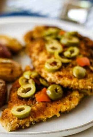 Olive Chicken Cutlets with Fingerling Potatoes | Life, Love, and Good Food