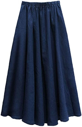 Denim elastic waist skirt from Amazon | 40plusstyle.com