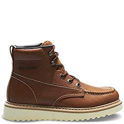Wolverine Men's 6-inch Moc-Toe Work Boots for Concrete Surface