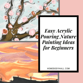 Easy Acrylic Pouring Nature Painting Ideas for Beginners