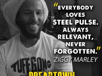 Ziggy Marley showing love to Steel Pulse