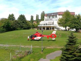 DRF Luftrettung auch in Freital im Einsatz