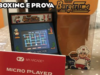my arcade burger time micro player unboxing prova
