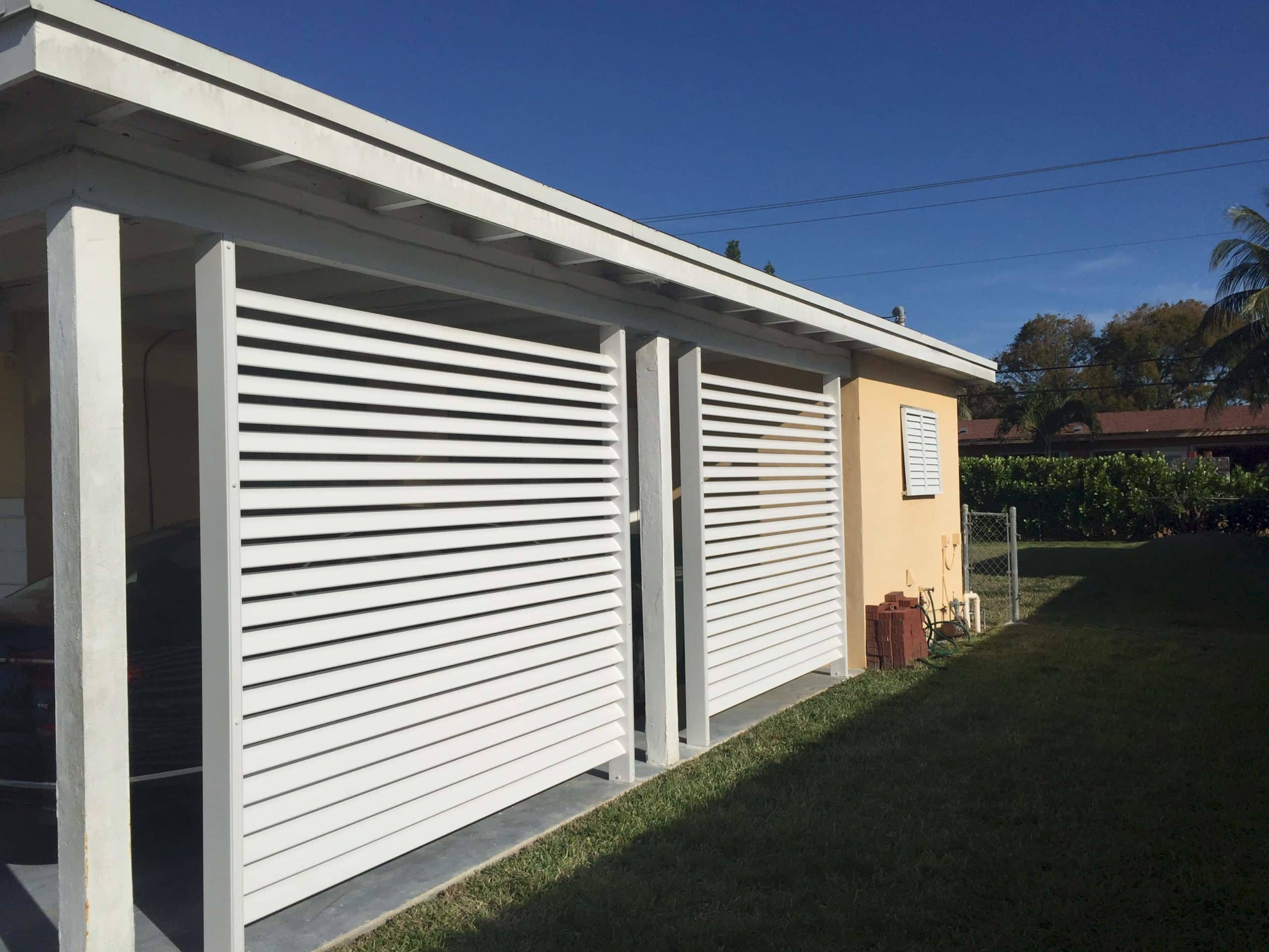 Louver Privacy Wall