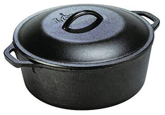 9. Lodge L8DOL3 Pre-Seasoned Cast-Iron Dutch Oven