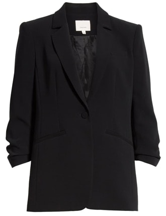 the most chosen stylish clothes of the year - Cinq à Sept ruched sleeve blazer | 40plusstyle.com