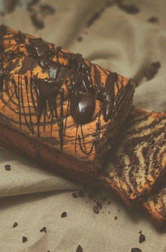 Zebrakuchen in der Kastenform
