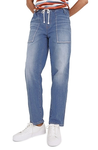 Madewell relaxed pull-on jeans   40plusstyle.com
