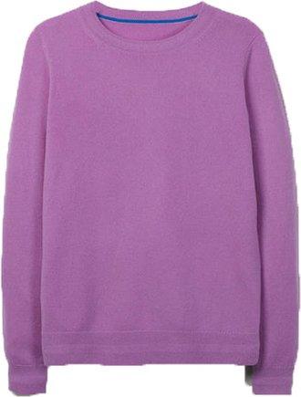 Boden cashmere crewneck sweater | 40plusstyle.com