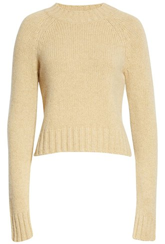 Vince shrunken mock neck cashmere sweater | 40plusstyle.com