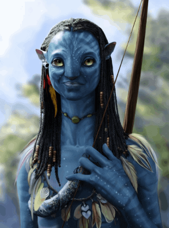 famous fiction archer neytiri with her bow