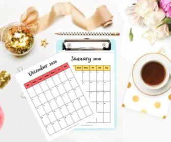 Free Printable 2020 Calendar #2020 #printable #Calendar