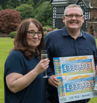 Postcode Lottery winner John Washington