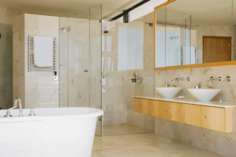 Best Two-Person Steam Shower with Jetted Bathtub