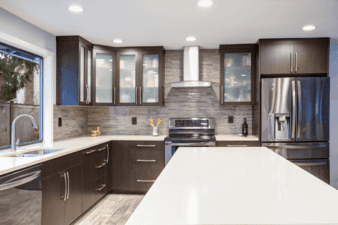 Stunning Kitchen Cabinets with Glass Doors Ideas