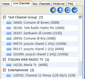 Sopcast biedt via 'live channels' een groot aantal livestreams van voetbal- race en andere sportwedstrijden.