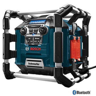 1. Bosch Bluetooth Power Box Jobsite AM/FM Radio/Charger/Digital Media Stereo
