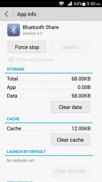 Clear Bluetooth cache Android