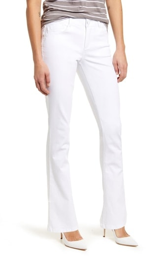 White bootcut jeans   40plusstyle.com