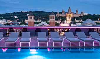 Hotel at placa d Espanyol for NYE in Barcelona