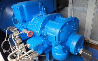Chiller compressor failure of blue Grasso in enclosure