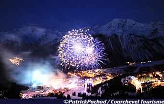 Pyrotechnic Art festival Courchevel