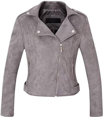 CHARTOU suede moto jacket | 40plusstyle.com