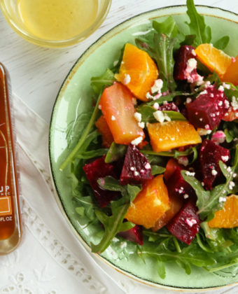 Maple vinaigrette salad by Runamok Maple