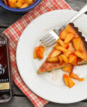 Peach pie by Runamok Maple