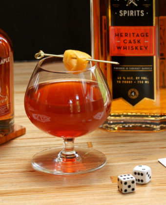 Maple whiskey cocktail by Runamok Maple